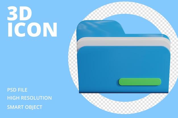 Plik folderu ikon 3d