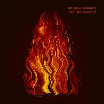 Płonącym tle ognia