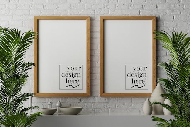 Płótno papierowe plakaty w drewnianej ramce
