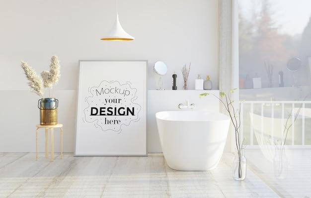 Płótno ścienne lub ramka na zdjęcia makieta na wnętrze łazienki