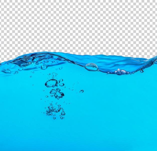 Plusk wody na białym tle premium psd
