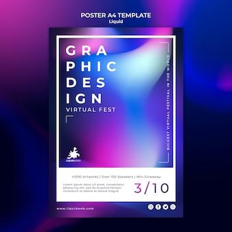 Płynny szablon plakatu