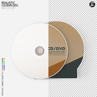 Płyta cd i projekt makiety okładki pudełka cd na białym tle