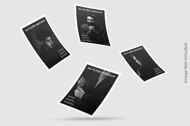Pływająca makieta broszury a4
