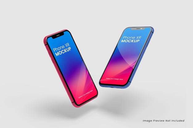 Pływające makiety smartfonów