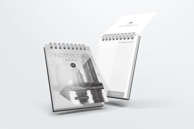 Pływający notatnik makieta