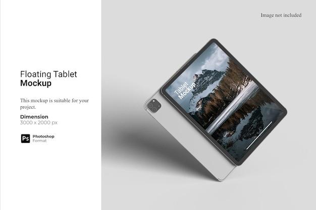 Pływający projekt makiety tabletu
