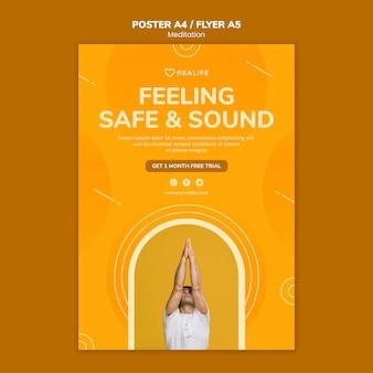 Poczucie bezpieczeństwa i zdrowy szablon plakatu