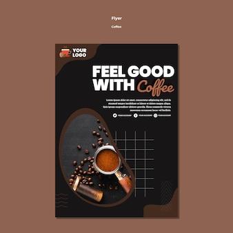 Poczuj się dobrze z szablonem ulotki z kawą