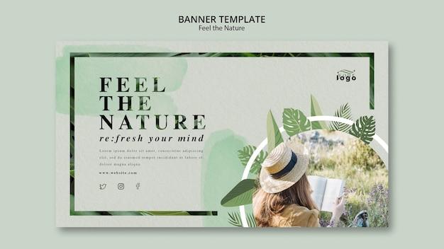 Poczuj szablon banner natury