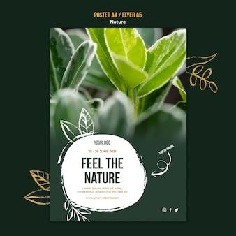 Poczuj szablon plakatu wydarzenia natury