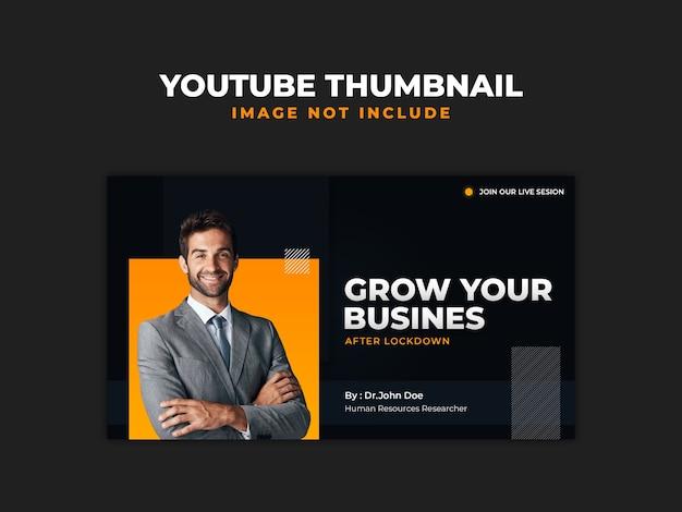 Podcast business marketing szablon miniatury youtube