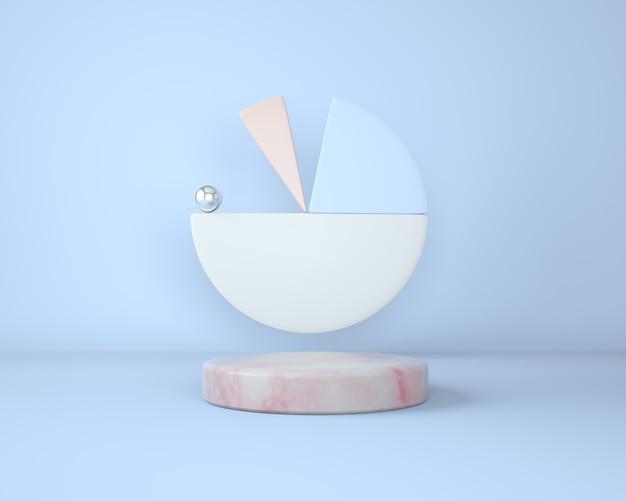Podium do brandingu i marmurowy cokół o geometrycznych kształtach