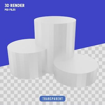 Podium do prezentacji produktu renderowania 3d izolowane premium
