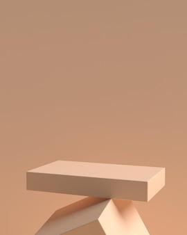 Podium kształtu geometrii abstrakcyjnej sceny 3d do wyświetlania produktów