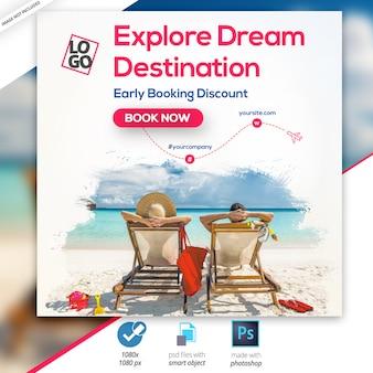 Podróże - wycieczki banner instagram