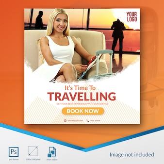 Podróżny szablon sprzedaży w mediach społecznościowych