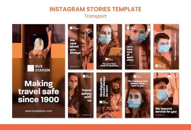 Podróżuj bezpieczny szablon historii na instagramie