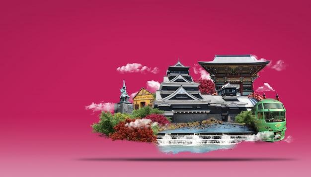Podróżuj po japonii kraina wschodzącego słońca