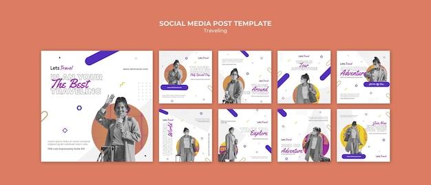 Podróżujący post w mediach społecznościowych