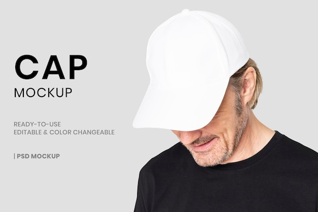 Podstawowy szablon psd makiety czapki do reklamy modowej nakrycia głowy