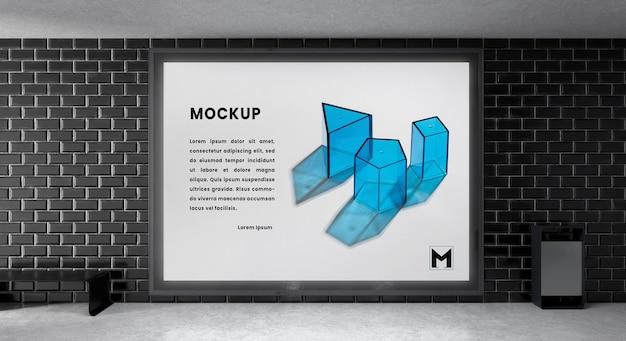 Podświetlana makieta pozioma nowoczesnego miasta