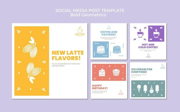 Pogrubiona geometria post w mediach społecznościowych