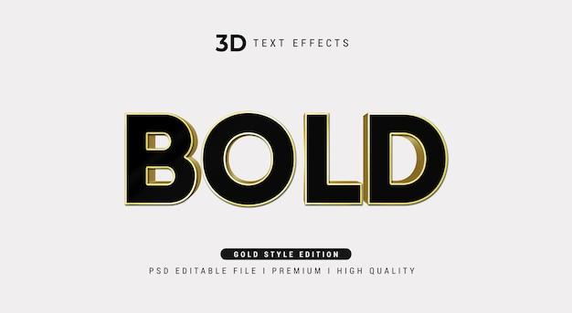 Pogrubiona makieta efektu stylu tekstu 3d