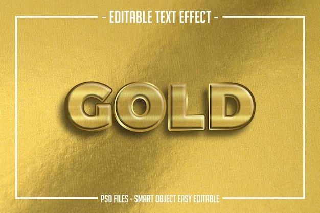 Pogrubiony, gruby złoty tekstowy edytowalny efekt czcionki
