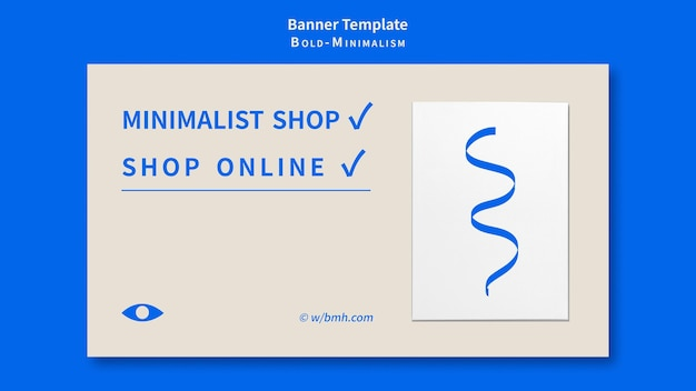 Pogrubiony szablon banera minimalizmu