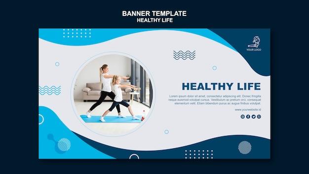 Pojęcie zdrowego życia poziomy baner