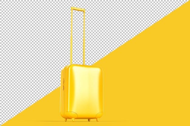 Pojedyncza torba podróżna na białym tle