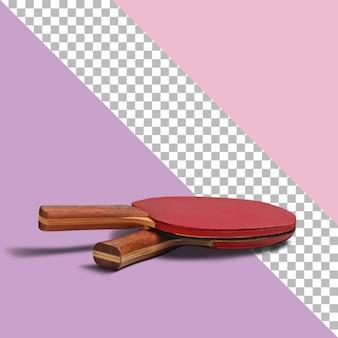 Pojedyncze czerwone rakietki do tenisa stołowego