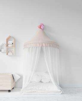 Pokój dziecięcy z łóżkiem i zabawkami