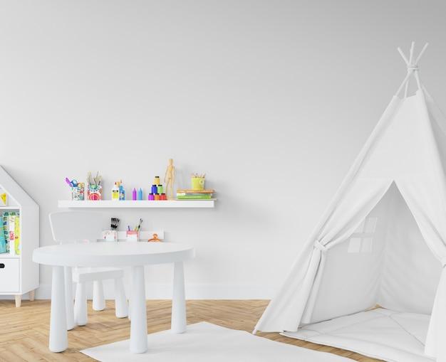 Pokój dziecinny z białym tipi