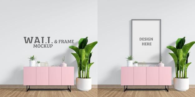 Pokój z różową szafką
