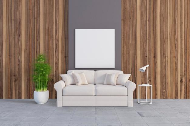 Pokój z śliczną kanapą