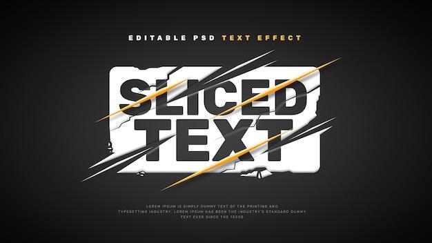 Pokrojony efekt tekstowy