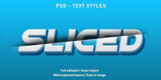 Pokrojony styl efektu tekstu
