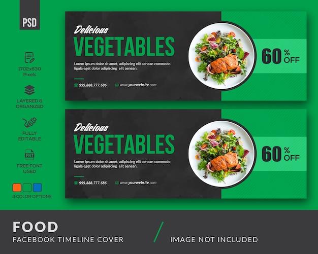 Pokrycie facebooka dotyczące żywności