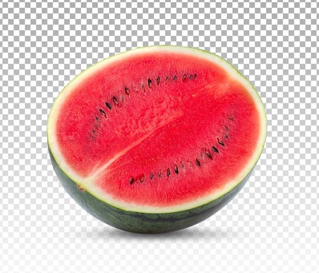 Pół arbuza na białym tle