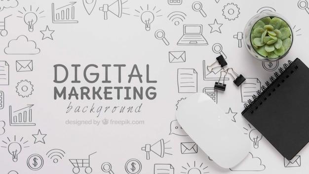 Połączenie wifi 5 g do marketingu cyfrowego