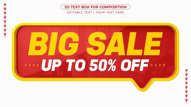 Pole tekstowe big sale d ze zniżką w renderowaniu 3d