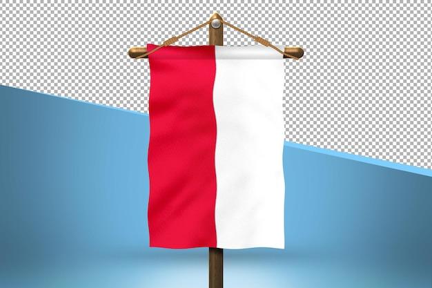 Polska flaga powiesić tło projektu