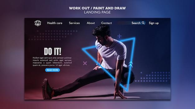 Pomaluj i narysuj opracowanie szablonu strony docelowej