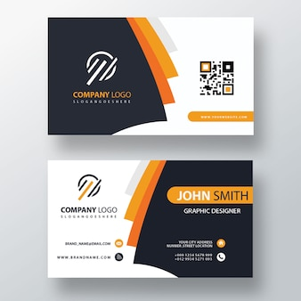Pomarańczowa elegancka karta firmowa