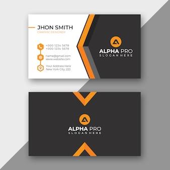 Pomarańczowa karta biznesowa