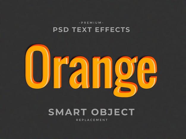 Pomarańczowe efekty tekstowe w stylu warstwy 3d w photoshopie