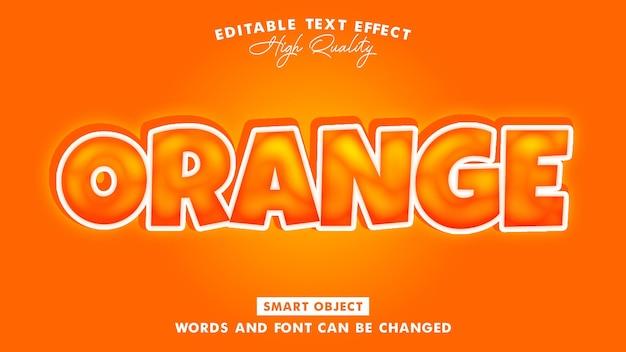 Pomarańczowy efekt stylu tekstu