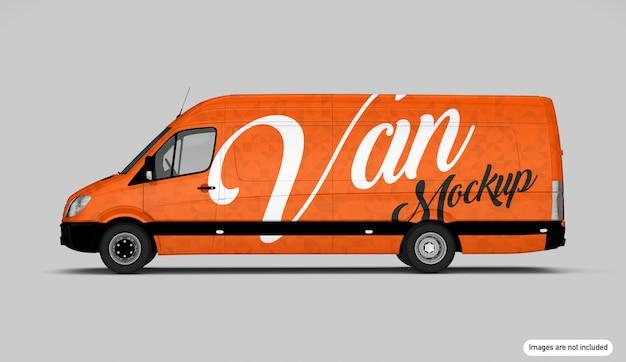 Pomarańczowy makieta van